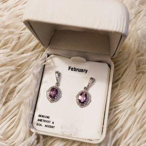 Jewelry - NWT Amethyst earrings